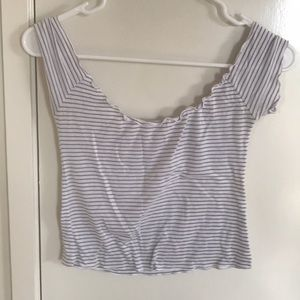 Brandy Melville Off-the-Shoulder Shirt